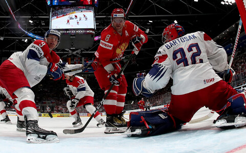 ЧМ по хоккею: Россия - Чехия.