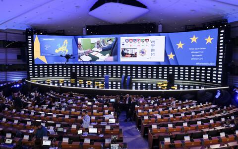 Eurovalimiste pressikeskus Brüsselis.