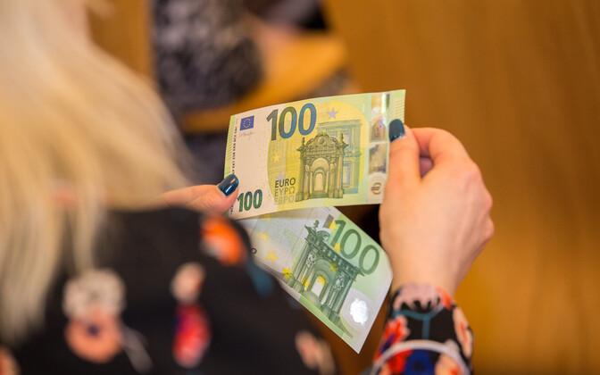 Евробанкноты.