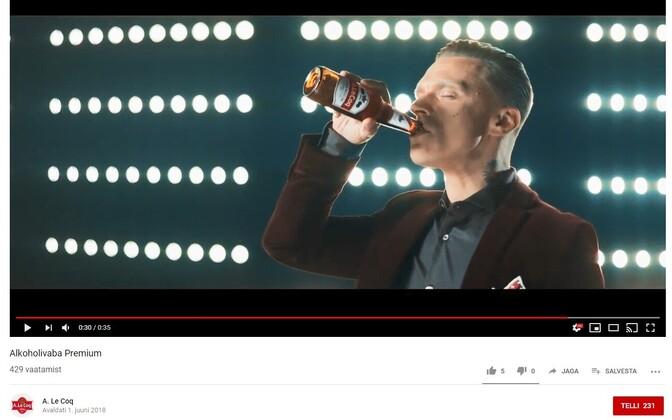Alkoholivabade õllede reklaamid.