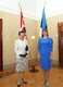 President Kersti Kaljulaid welcomes the Princess Royal to Kadriorg.