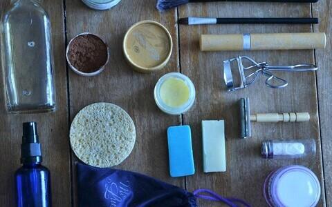 Selline näeb välja pakendivaba ja selle ka jäätmevaba kosmeetika-arsenal.
