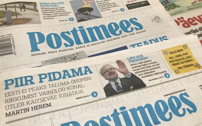Postimees print editions.