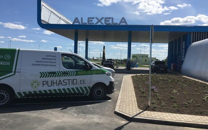 Одна из автозаправочных станций Alexela.
