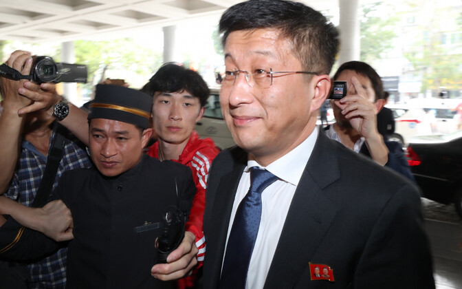Põhja-Korea esindaja Kim Hyok-chol käesoleva aasta veebruaris Vietnamis.