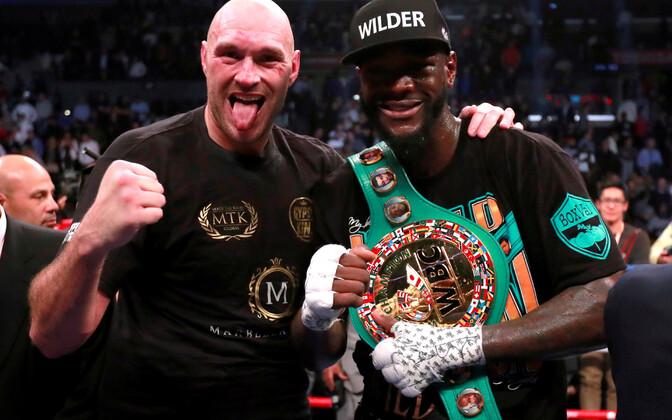 Tyson Fury ja Deontay Wilder mullu detsembris