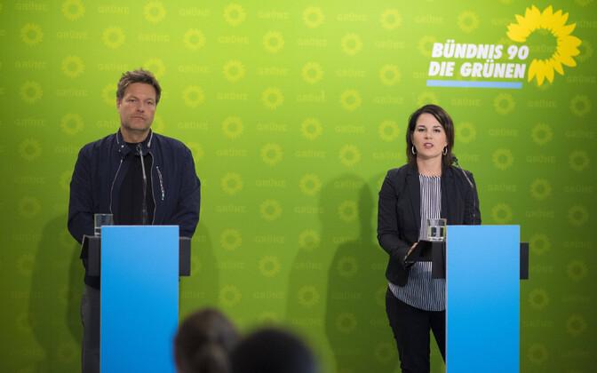 Saksamaa roheliste juhid Robert Habeck ja Annalena Baerbock.