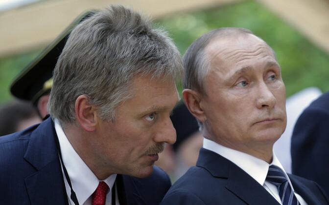Kremli pressiesindaja Dmitri Peskov ja Venemaa president Vladimir Putin.