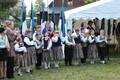 Sadala laste tantsurühm noorte peo Tule tulemine rahvamaja õuel