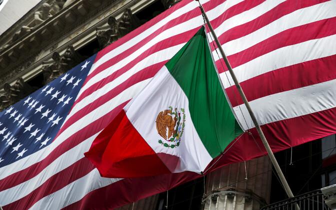 USA ja Mehhiko lipp New Yorgis.