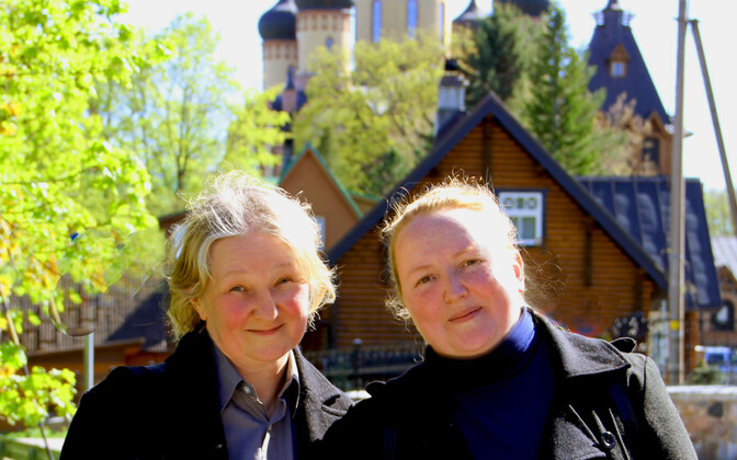 Inna Podolskaya and Christiana Zalevskaya at the Pühtista Dormition Convent, or Kuremäe Monastery, in Northeastern Estonia.