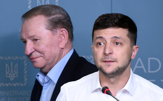Леонид Кучма и Владимир Зеленский.