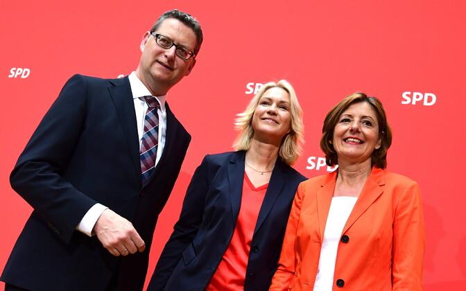 Thorsten Schäfer-Gümbel, Manuela Schwesig ja Malu Dreyer.