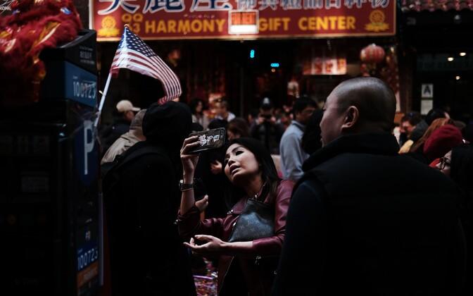 Китайский Новый год в Нью-Йорке.