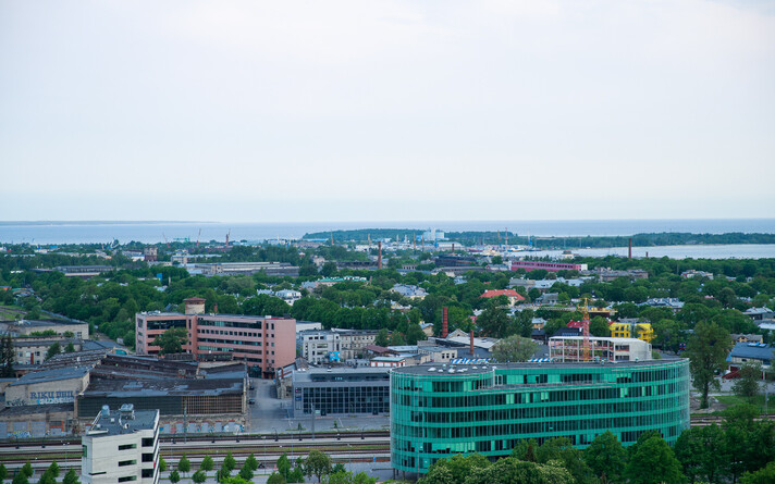 Вид на Таллинн.