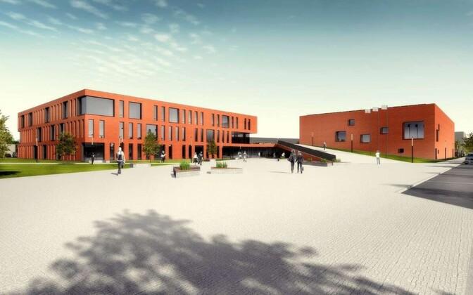 Tulevane Laagri gümnaasium, mis peaks valmima aastal 2022.