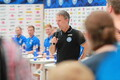 Eesti jalgpallikoondislased kohtusid fännidega.