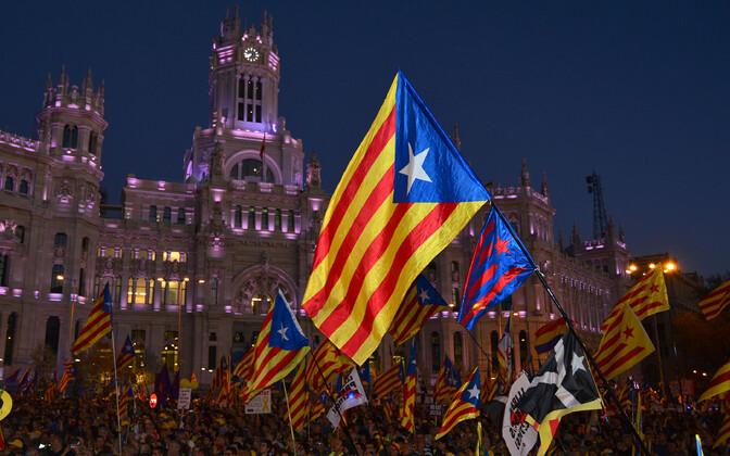 Kataloonia iseseisvuse nõudjate protest märtsis Madridis.