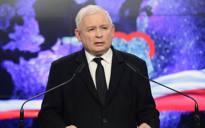 Poola võimuerakonna Õigus ja Õiglus (PiS) juht Jaroslaw Kaczynski.