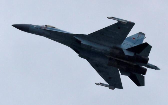 Vene sõjalennuk Su-35.