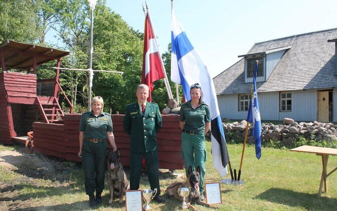 Команда погранслужбы Латвии.