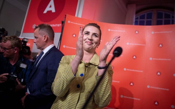Taani sotsiaaldemokraatide partei liider Mette Frederiksen.