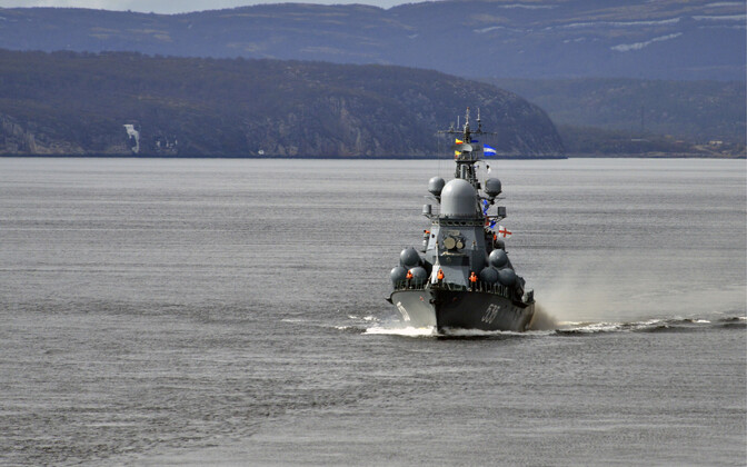 Vene sõjalaev Barentsi meres