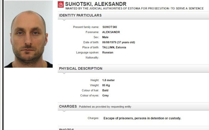 Aleksandr Suhotski as he appeared on his Interpol wanted notice.
