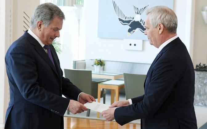 Soome president Sauli Niinistö ja tulevane peaminister Antti Rinne.