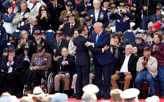 Riigijuhid tänasid Prantsusmaal Normandia dessandi veterane.