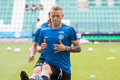 Eesti jalgpallikoondise treening enne EM-valikmängu Põhja-Iirimaaga
