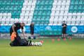Põhja-Iirimaa jalgpallikoondise treening enne EM-valikmängu Eestiga