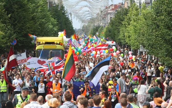 Baltic Pride в Вильнюсе, 2016 год.