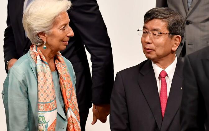 IMF-i juht Christine Lagarde ja Aasia arengupanga president Takehiko Nakao.