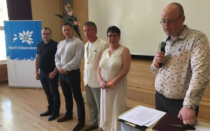 Free Party held its general assembly in Rapla on Sunday. June 9, 2019.