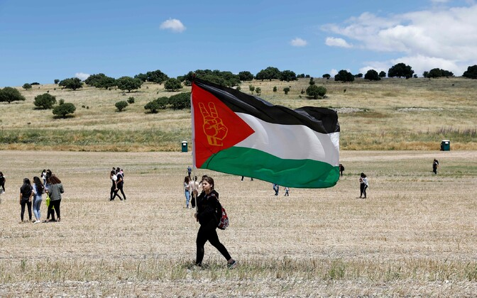 Protestijad Palestiina lipuga.