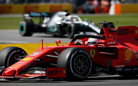 Sebastian Vettel ja Lewis Hamilton