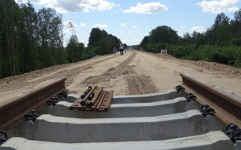 Rail construction on the Riisipere-Turba line.