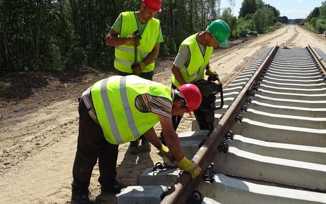 Riisipere-Turba raudteelõigu ehitus.