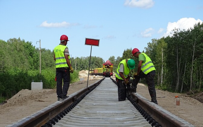 Construction underway on the Riisipere-Turba section of the railway to extend at least to Haapsalu.