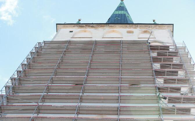 Oleviste kiriku fassaadi remont