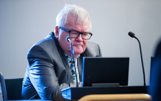 Edgar Savisaar at the Tallinn city council chambers.