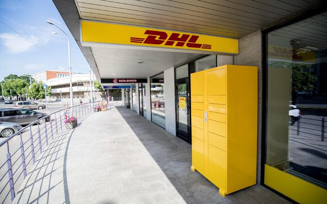 Первый почтовый автомат DHL на бульваре Рявала.