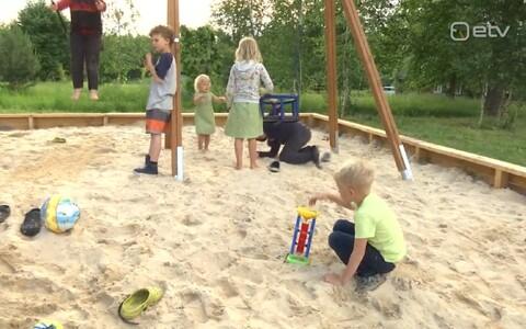 Nedsaja küla laste mänguväljak.