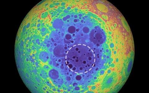 Kuu tagaküljel asuv Lõunapooluse-Aitkeni bassein on tervelt 2000 kilomeetrine piklik löögijälg.