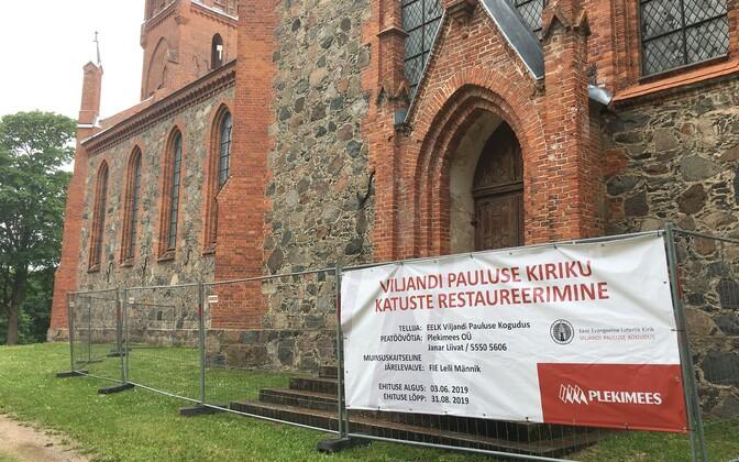 Viljandi Pauluse kiriku trepp sai korda