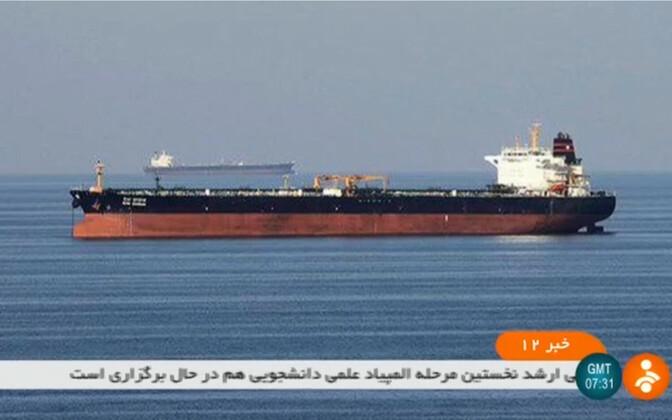 Iraani TV pilt kahest tankerist.