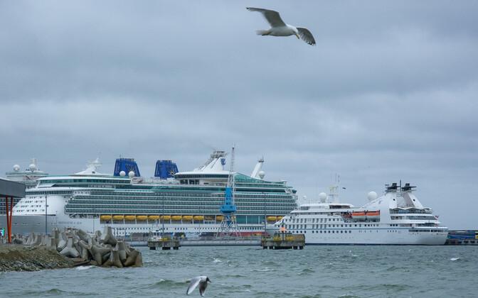 Kruiisilaevad Tallinna Sadamas.