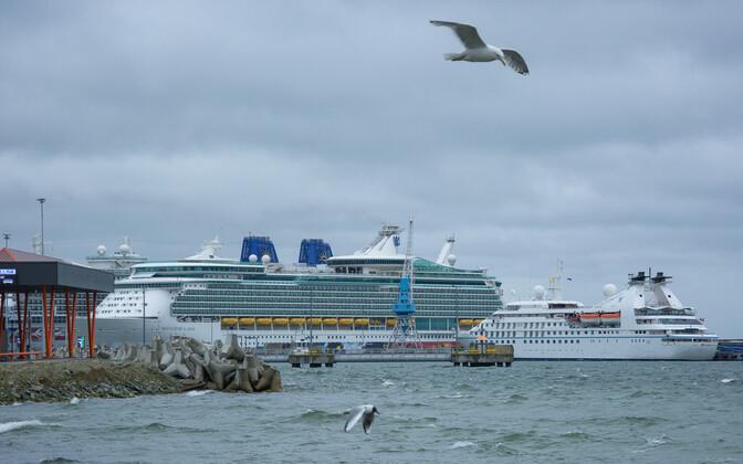 Cruise ships at the Port of Tallinn.