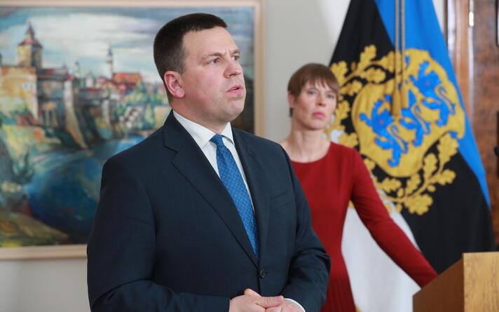 Pressikonverents Kadriorus pärast teadusleppe arutelu: Jüri Ratas ja Kersti Kaljulaid